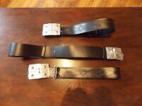 3x kilt belts 2 large , 1 small