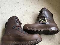 HAIX brown combat boots
