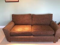 Brown 'next' 3 seater sofa