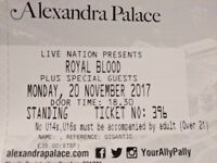 1 Ticket for Royal Blood, Alexandra Palace, 20 Nov