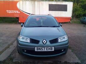 Renault megane 1500cc diesel / 45 mpg / 6speed/ 07plate