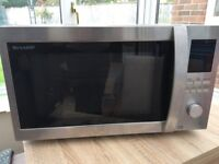 Sharp 1000W Combination Microwave R982STM - Stainless Steel - only used for 6 months, immaculate