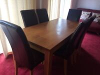 2nd Hand Oak Dining Table + 6 Dining Chairs