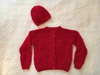 Assorted beautiful hand knitted children's cardigans