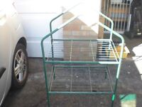 4 Tier portable mini greenhouse with plastic zipped cover
