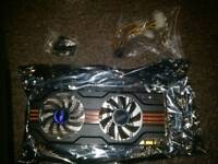Nvidia GTX 560 TI graphics card with box and CD