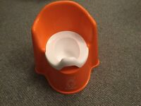 BABY BJORN ORANGE POTTY, THRONE STYLE, EXCELLENT CLEAN CONDITION, COST £30
