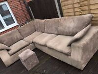 Gorgeous corded large Corner Sofa - Able to deliver