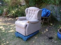 new electric recliner armchair by Sherborne plus 2 seat sofa non recling can arrange delivery local
