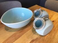 Nigella Lawson Kitchen Jars & Mixing Bowl