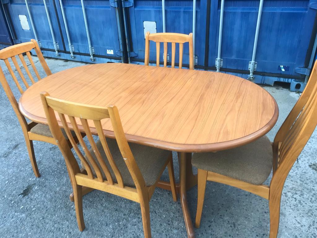 Extending dining table and 4 chairs FREE DELIVERY PLYMOUTH AREA