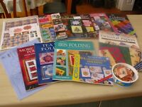 Iris/Teabag Folding Job lot of Craft Books and Papers