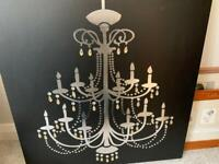 NEXT , black and silver chandelier