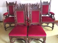 Antique Set of 8 Library/Dining Chairs - Fine Quality, Victorian