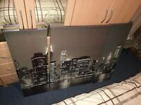 3 piece picture of new york sky line