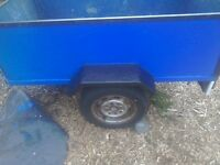 Hi I have car trailer5feet by 3feet two new tyres ready to use