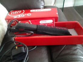 hair straightners Red Hot Professional salon tools used once.