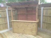 Brand New OUTDOOR TIMBER BAR - delivered / installed