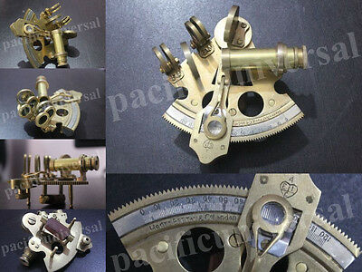 """3"""" Nautical Sextant Solid Brass Maritime Astrolabe Marine Gift Ships equipment."""