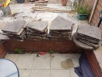 Circle patio slabs