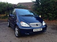 2002 /52 mercedes a140 avantgarde, 1 previous owner. low mileage ,full history, full mot