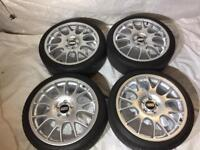 "Genuine BBS CH 19"" and tyres"