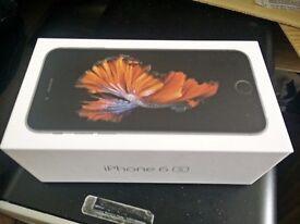 Boxed Unlocked + iPhone 6s - Space Grey 16gb + USB Lead + Genuine Headphones + Free Sim Card - £350