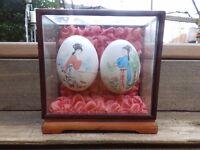 Oriental Hand Painted Eggs