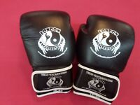full leather boxing gloves 16 onz. Black -yellow-blue-white colours