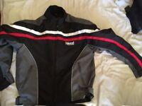 Mens Didoo Armoured Cordura Motorbike Textile Jacket Size M