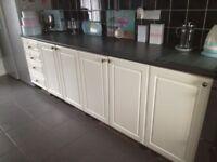 Full kitchen units worktops etc dishwasher cooker hood and sink