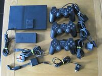 PS2 + Games + Controllers