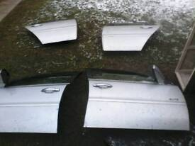 breaking VAUXHALL VECTRA DOORS X 3 £15 EACH all 3 for £35 ( Z157 2AU star silver )