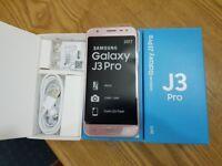Samsung Galaxy J3 PR0 16GB PINK Dual Sim Unlocked smartphone