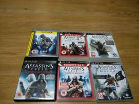 PS3 Assassin's CREED 6 Games Bundle