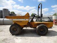 Benford Terex PT6000 6 ton dumper