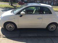 Fiat 500 white 13 plate
