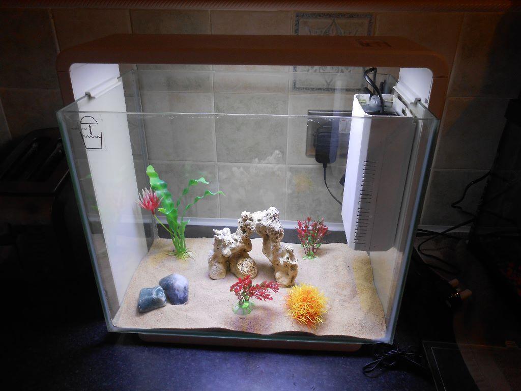 Superfish aquarium fish tank aqua 40 - Superfish Home 40 Nano Tank With Led Lighting And Filter Air Spraybar