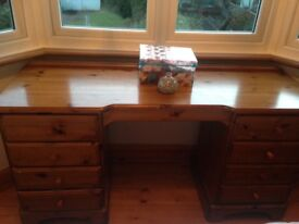 Bedutiful DUCAl solid wood dressing table with hidden jewellery drawer