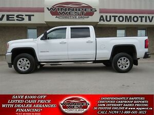 2015 GMC SIERRA 2500HD White SLE Z71 Off Road 4x4 Crew, 6.6L Dur