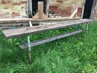 Vintage Old Long Unique Wooden School Bench Rustic Decor Chairs Stool Picnic