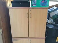 Two heavy duty office cupboards
