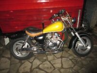 jinlun 125 cruiser moted till nov great running bike ready to go