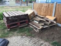Free - pallets and timber