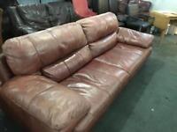Full leather Hyde 3 seater sofa