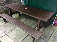 6ft large picnic bench