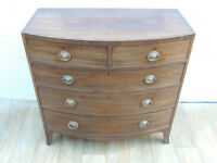 Antique original chest of 5 drawers (Delivery)