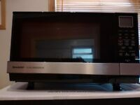 Microwave - Sharp AX 1110 SLM Silver 900 W 27 Litre Capacity Steam Microwave Oven with Grill