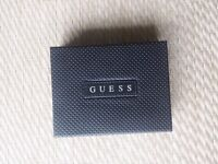 Guess genuine original men wallet trifold with box NEW