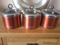 MORPHY RICHARDS KITCHEN CANISTERS
